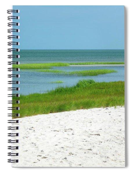 Glowing Beach Grasses Cape Cod Spiral Notebook