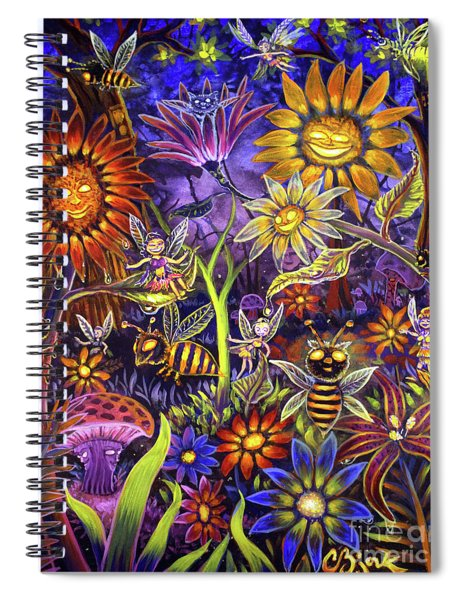 Glowing Fairy Forest Spiral Notebook