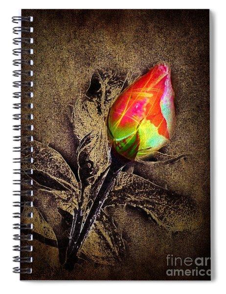 Glowing Rose Spiral Notebook