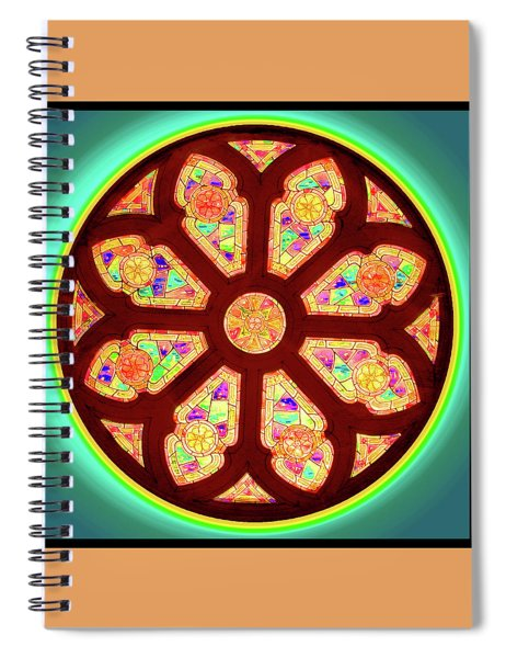 Glowing Rosette Spiral Notebook