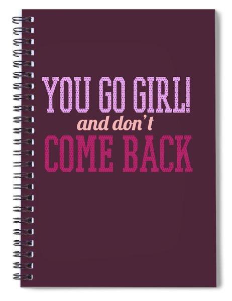Go Girl Spiral Notebook
