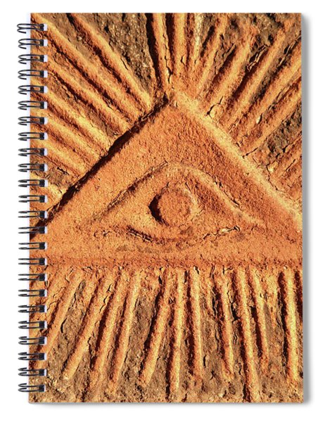 God's Eye - Old Relief Spiral Notebook
