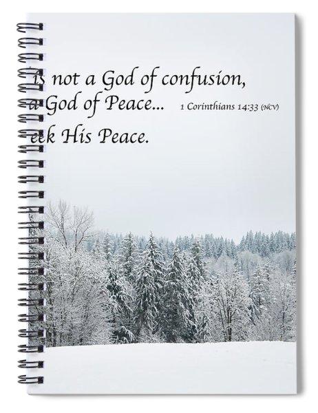 God's Winter Wonderland Spiral Notebook