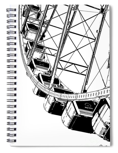 Going Up On The Big Wheel Spiral Notebook