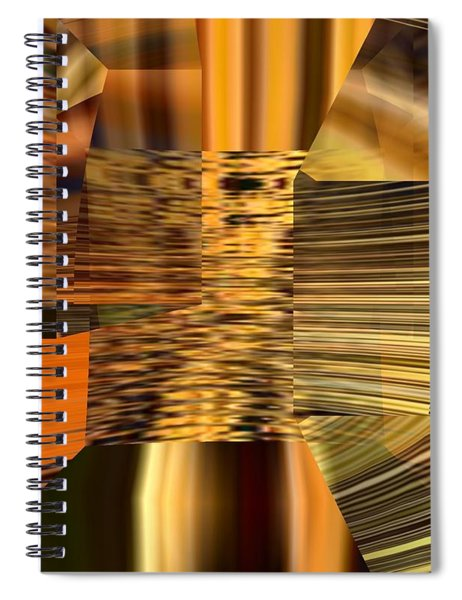 Spiral Notebook featuring the digital art Gold  by A z Mami