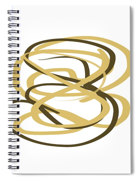 Gold And Black Abstract Spiral Notebook