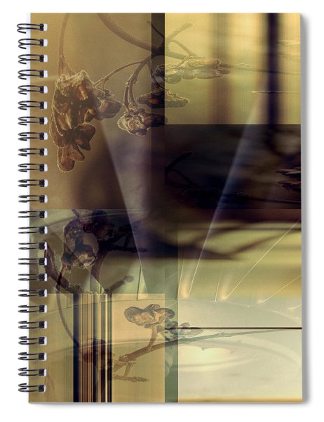 Gold Brown Tan Abstract Spiral Notebook