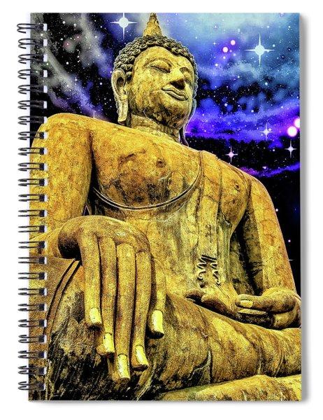 Gold Buddhist Statue Spiral Notebook