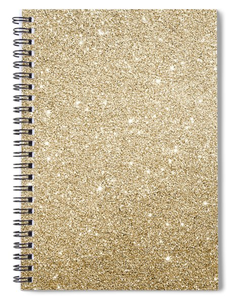 Gold Glitter Spiral Notebook