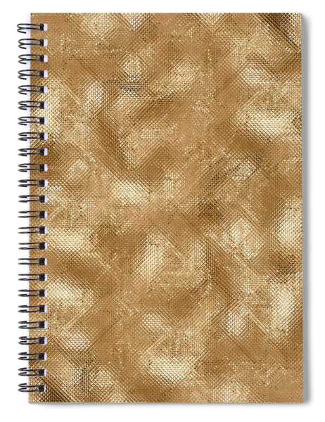 Gold Metal  Spiral Notebook