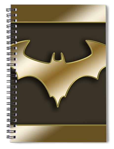 Golden Bat Spiral Notebook