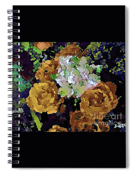 Golden Bouquet Spiral Notebook
