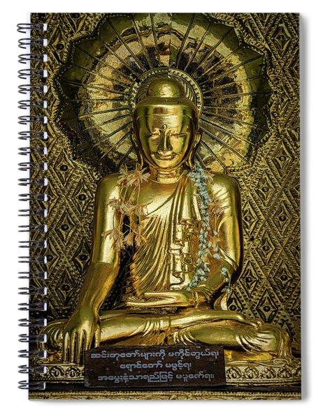 Golden Buddha Spiral Notebook