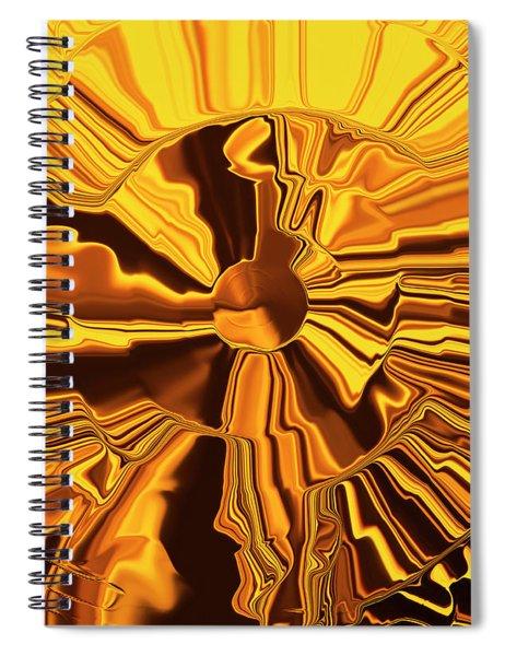 Golden Circle Spiral Notebook