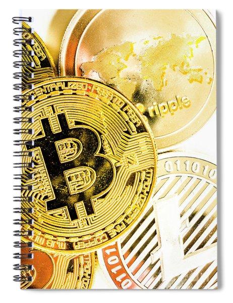 Golden Exchange Spiral Notebook