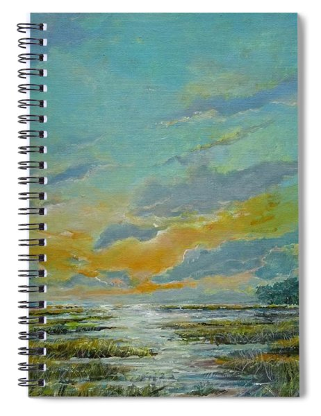 Golden Florida Dusk Spiral Notebook