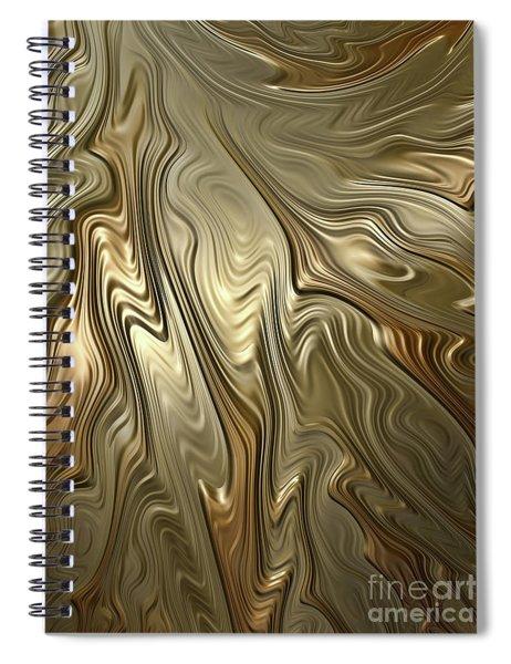 Golden Flow Spiral Notebook