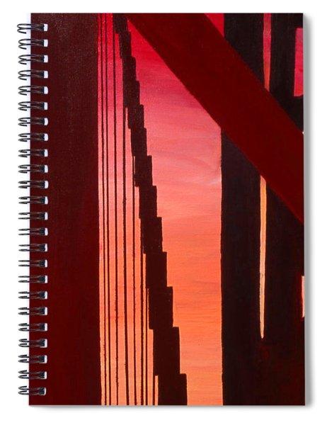 Golden Gate Art Deco Masterpiece Spiral Notebook