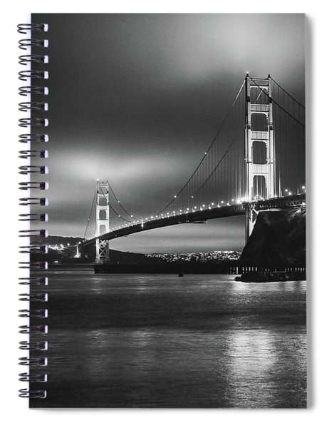 Golden Gate Bridge B/w Spiral Notebook