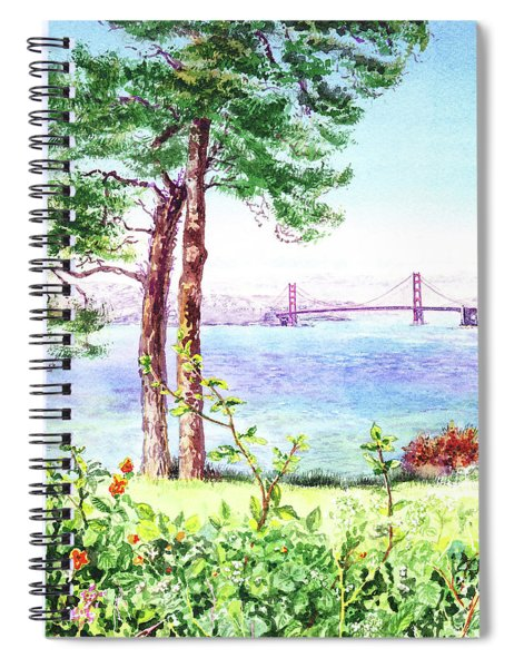 Golden Gate Bridge From Lincoln Park Spiral Notebook