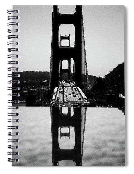 Golden Gate Reflection Spiral Notebook