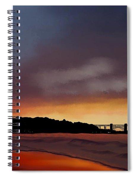 Golden Gate Sunset Spiral Notebook