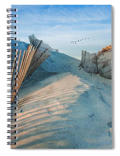 Golden Glow Dunes Spiral Notebook