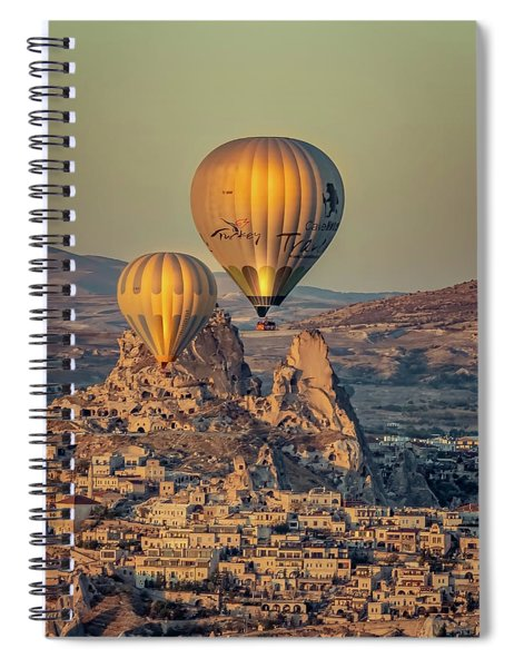 Golden Hour Balloons Spiral Notebook