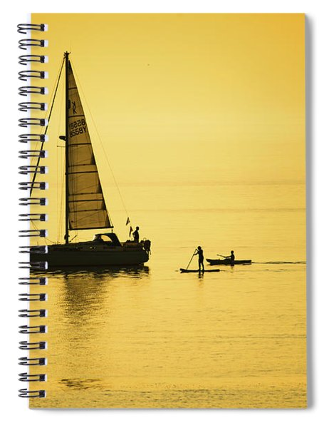 Golden Hour On Cardigan Bay, Aberystwyth Spiral Notebook
