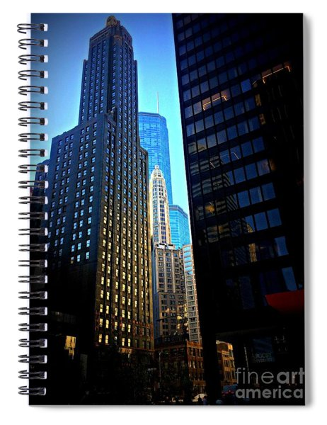 Golden Hour Reflections - City Of Chicago Spiral Notebook