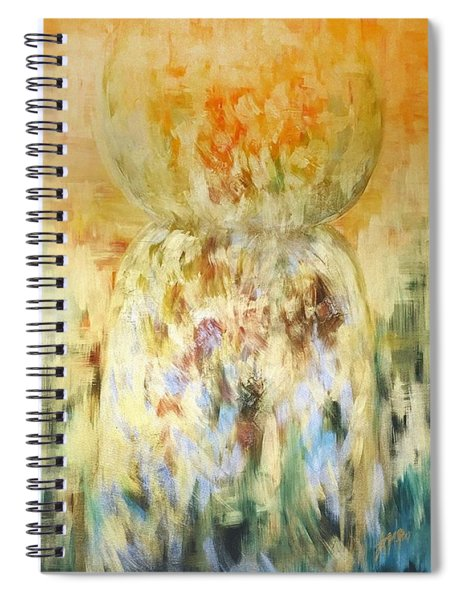 Golden Latte Stone Spiral Notebook