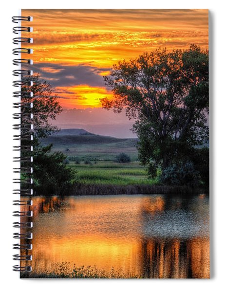 Golden Pond At 36x60 Spiral Notebook