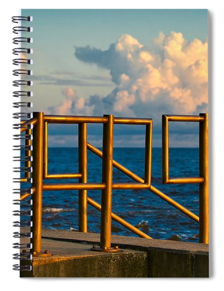 Golden Railings Spiral Notebook