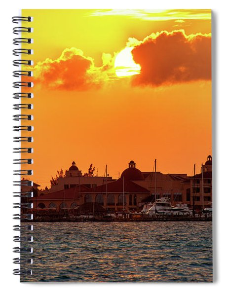 Golden Sky In Cancun Spiral Notebook