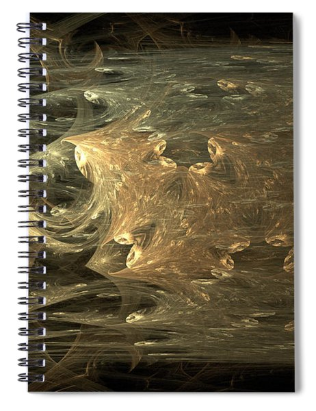 Golden Soul - Modern Abstract Art Spiral Notebook