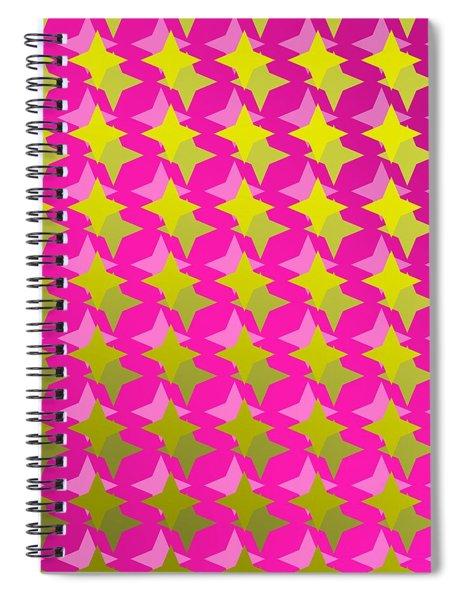 Golden Stars Over Purple Backlight Spiral Notebook