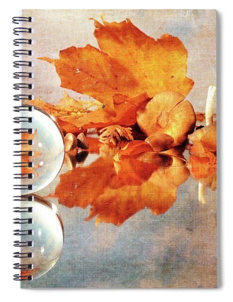 Golden Tones Of Fall Spiral Notebook