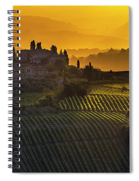 Golden Tuscany Spiral Notebook