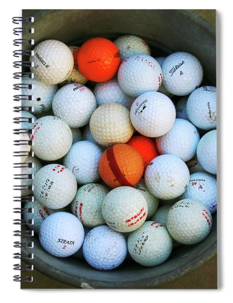 Golf Balls Spiral Notebook