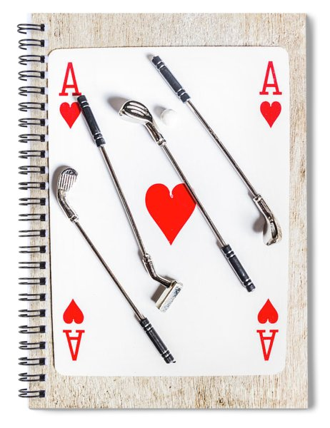Golf Club Love Spiral Notebook