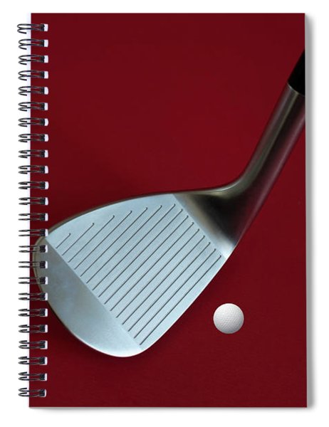 Golf Club Wedge And Golf Ball Spiral Notebook