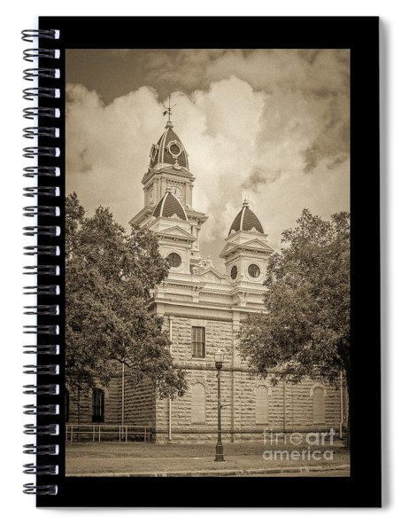 Goliad Courthouse In Sepia Spiral Notebook