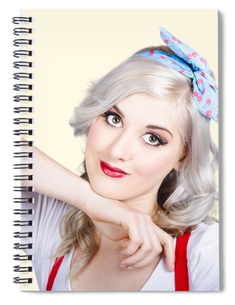 Good Looking 50s Pinup Girl Spiral Notebook