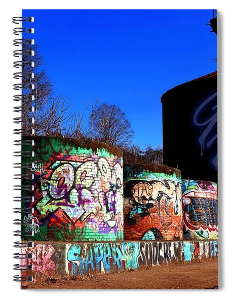 Good Vibes Asheville North Carolina Spiral Notebook