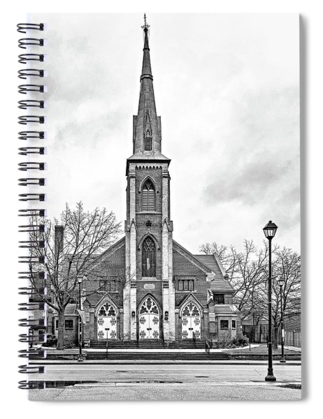 Grace Methodist Church 1888 Bw Spiral Notebook