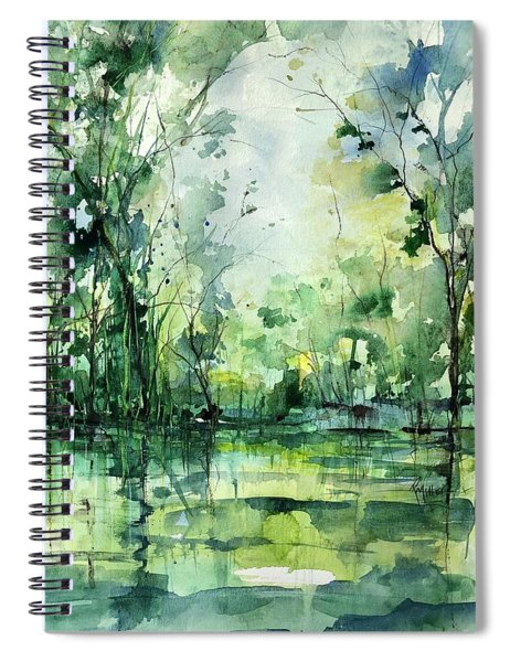 Grace On The Green River Spiral Notebook