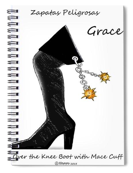 Grace Wall Art Spiral Notebook