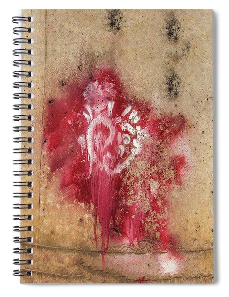 Grafitti Heart Spiral Notebook