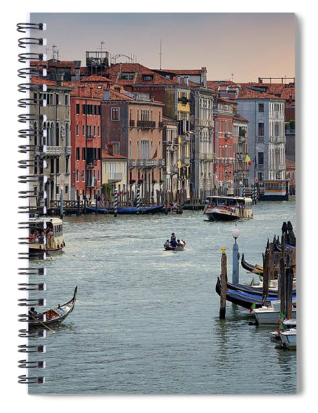 Grand Canal Gondolier Venice Italy Sunset Spiral Notebook