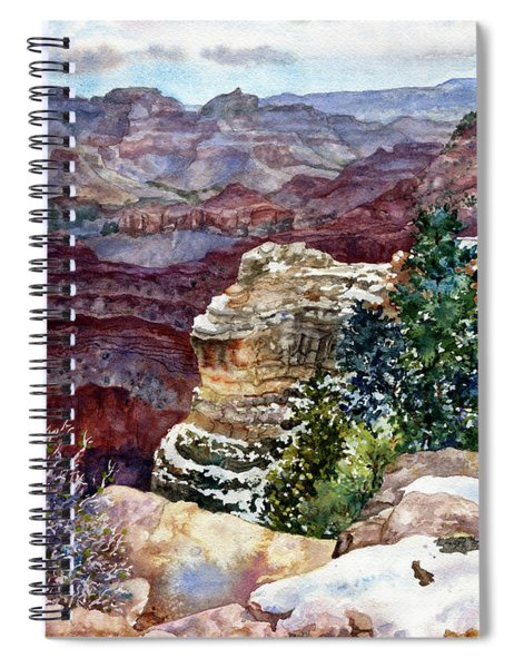 Grand Canyon Winter Day Spiral Notebook